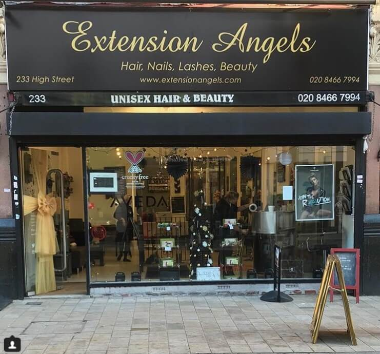 Set over 2 floors our salon   shop also stocks the full range of extensions  Angels hair extensions   Hair extension care products f861882f7
